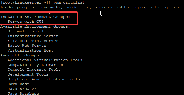 install gui on red hat 7 & 8 on azure