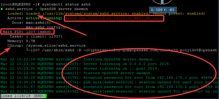 managing services in Linux
