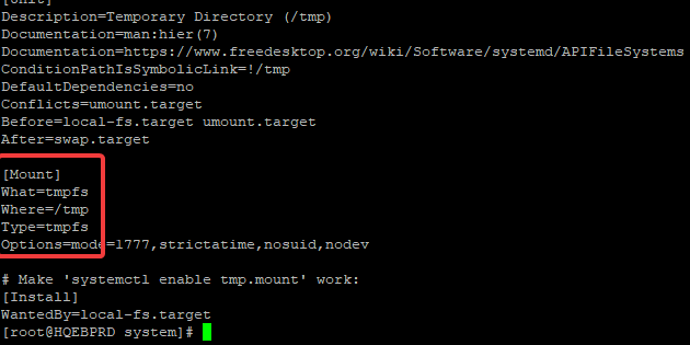 systemd unit file
