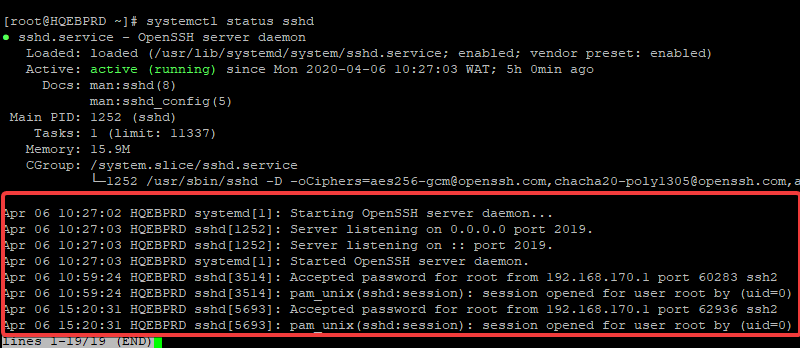 logging in Linux