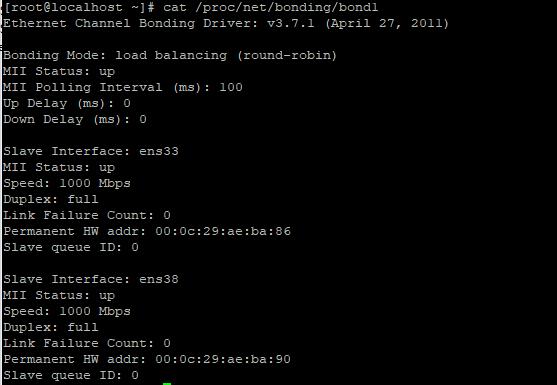 network bonding in linux